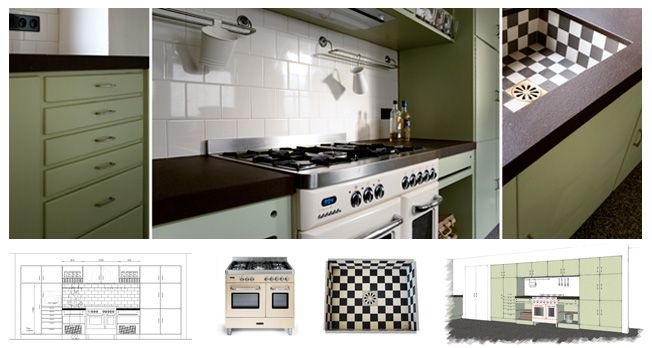 Renoveren on Pinterest  Le Creuset, Kitchen Layouts and Dining Tables