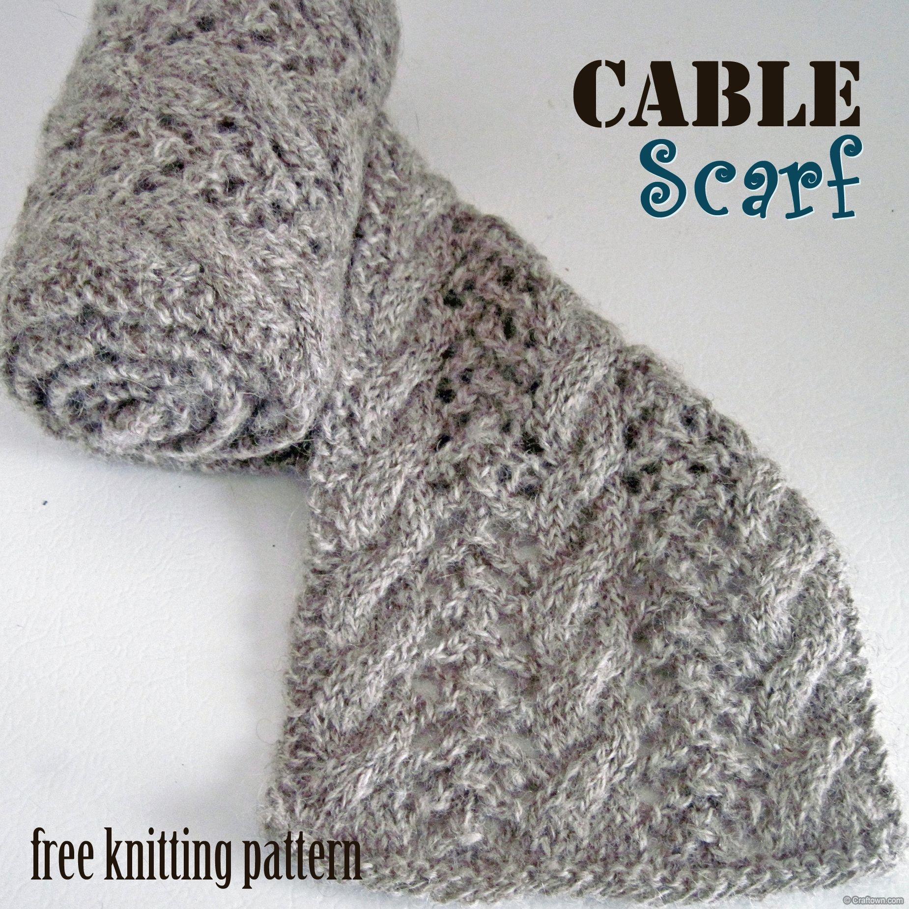 Free Knitting Pattern - Cable Scarf | Knitting isn\'t Sitting ...