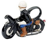 The 'Motorbiker' full size Teapot