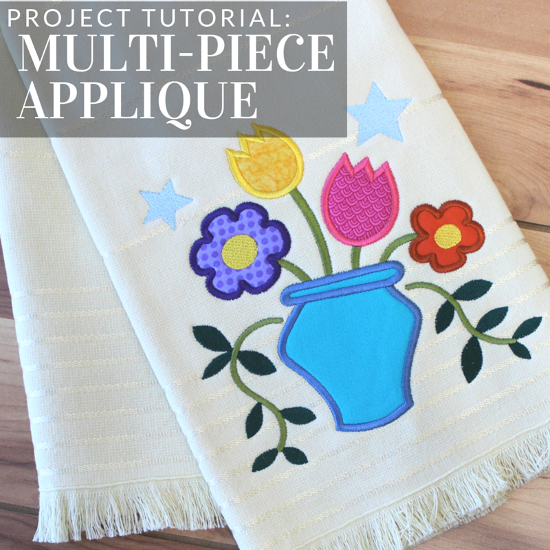 Embroider multi piece applique with this tutorial from