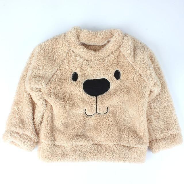 f303b779c Fleece Thick Winter Warm Clothing Heart Appliques Baby Sweatshirt ...