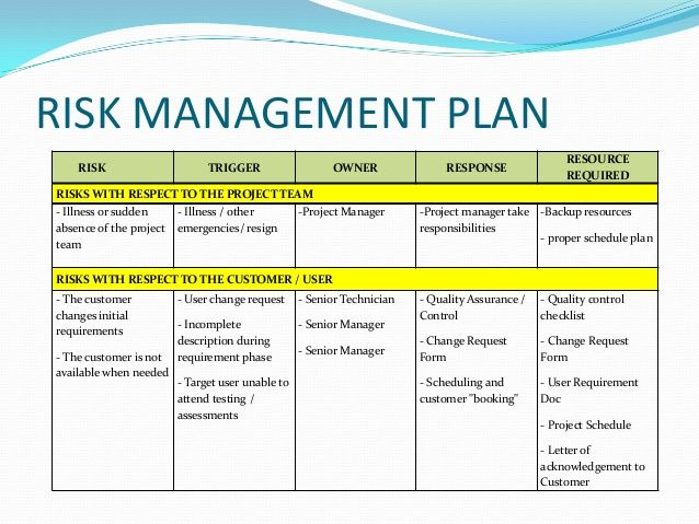 Risk Management Plan Example Check more at   - project schedule management plan template
