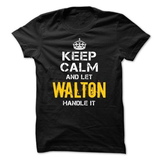 Keep Calm Let WALTON Handle It - #shirt pattern #unique hoodie. BUY IT => https://www.sunfrog.com/Funny/Keep-Calm-Let-WALTON-Handle-It.html?68278