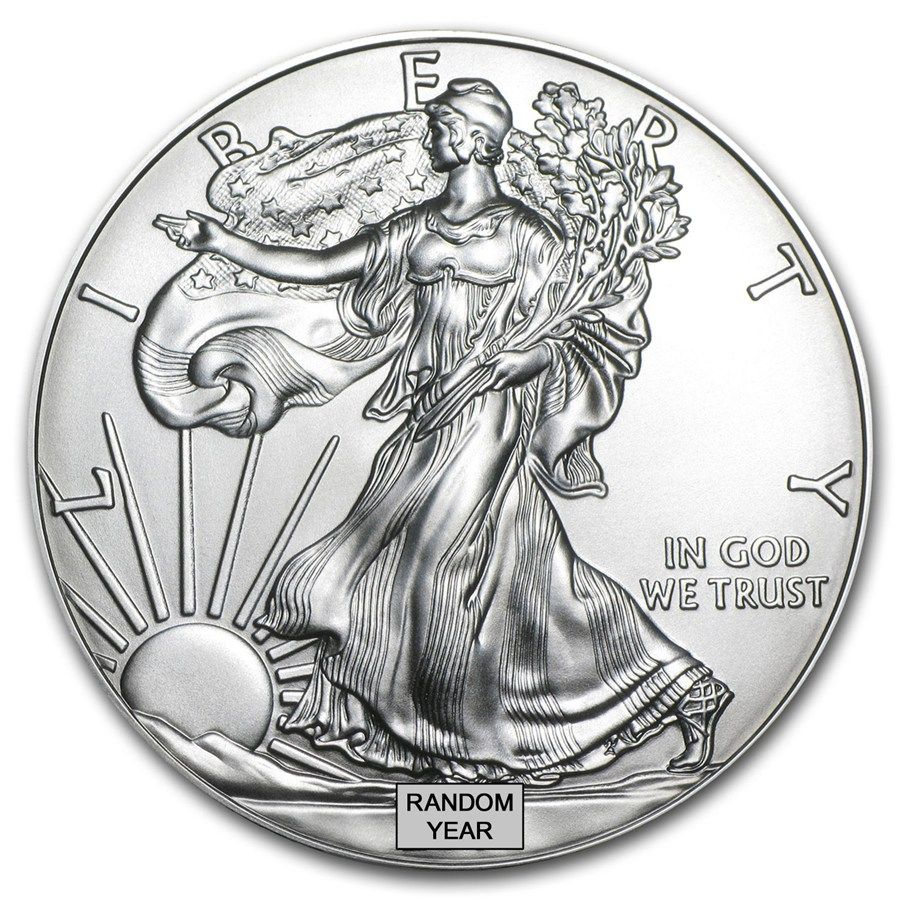 1 Oz Silver American Eagle Bu 999 Fine Silver Apmex Silver Eagle Coins Silver Bullion Coins Silver Bullion