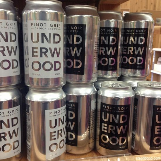 Underwood Wine in a tin at Trader Joe's - Pinot Noir and Pinot Gris