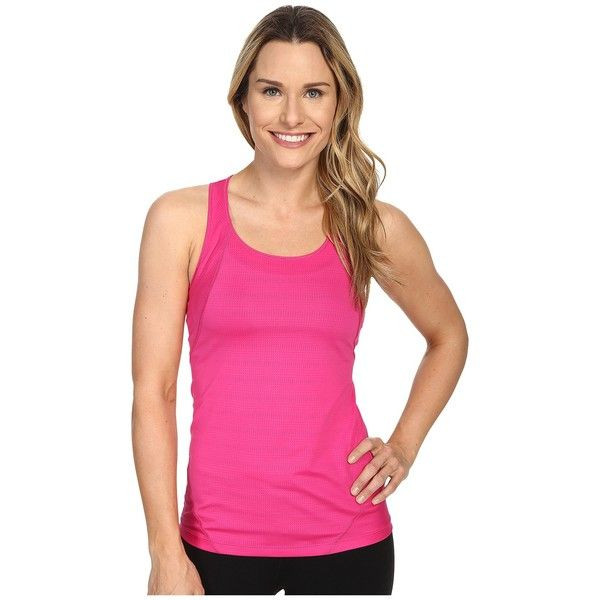Columbia Endless Freeze Tank Top Women's Sleeveless ($40) ❤ liked on Polyvore featuring activewear, activewear tops, columbia sportswear, columbia activewear and columbia