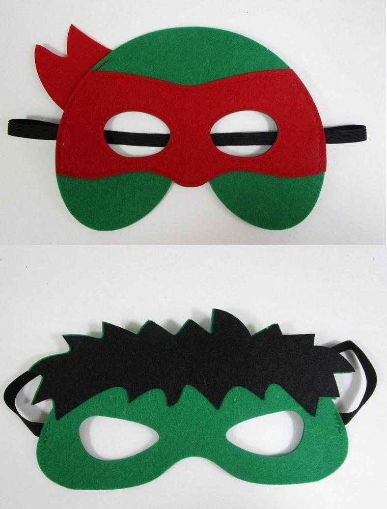 Teenage Mutant Ninja Turtles TMNT Leonardo Vacuform Plastic Costume Mask