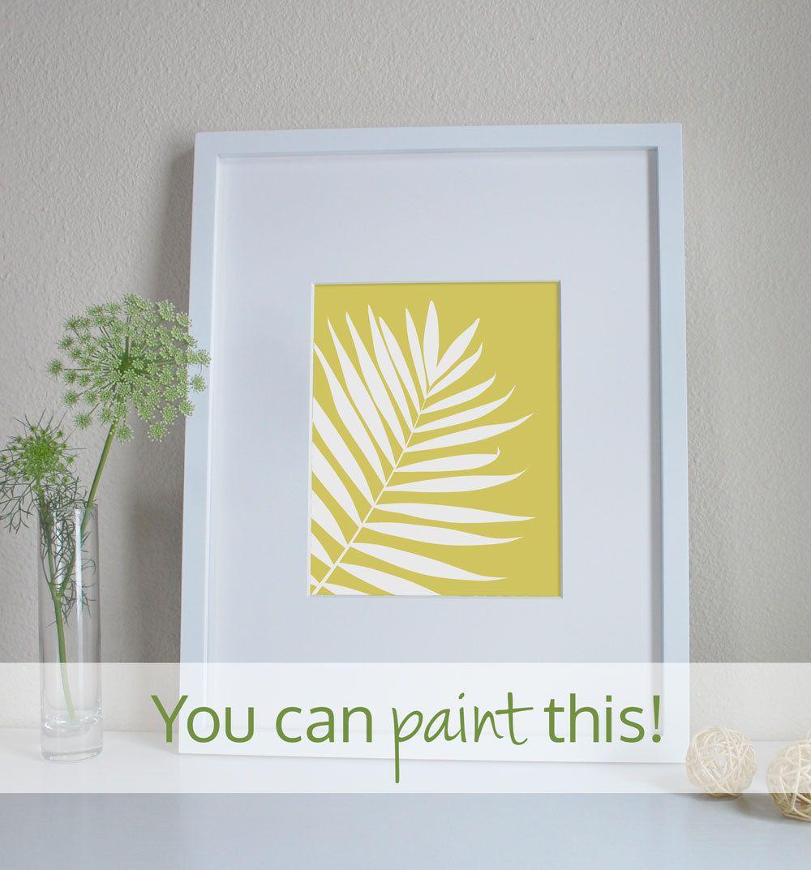 DIY Painting Pattern Printable Pattern by WildBluePaintings