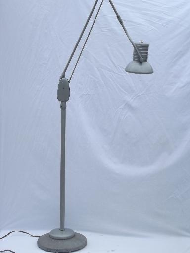 Dazor Floating Fixture Work Light Vintage Industrial Floor Lamp Lamp Gooseneck Floor Lamp Industrial Floor Lamps