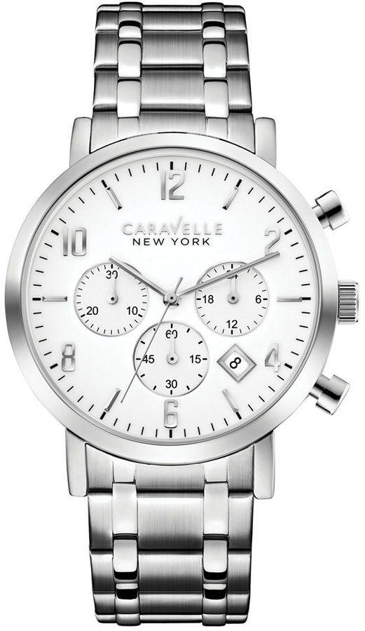 25ae96f52e6 Caravelle New York by Bulova Men s Chronograph Stainless Steel Bracelet  Watch 40mm 43B138