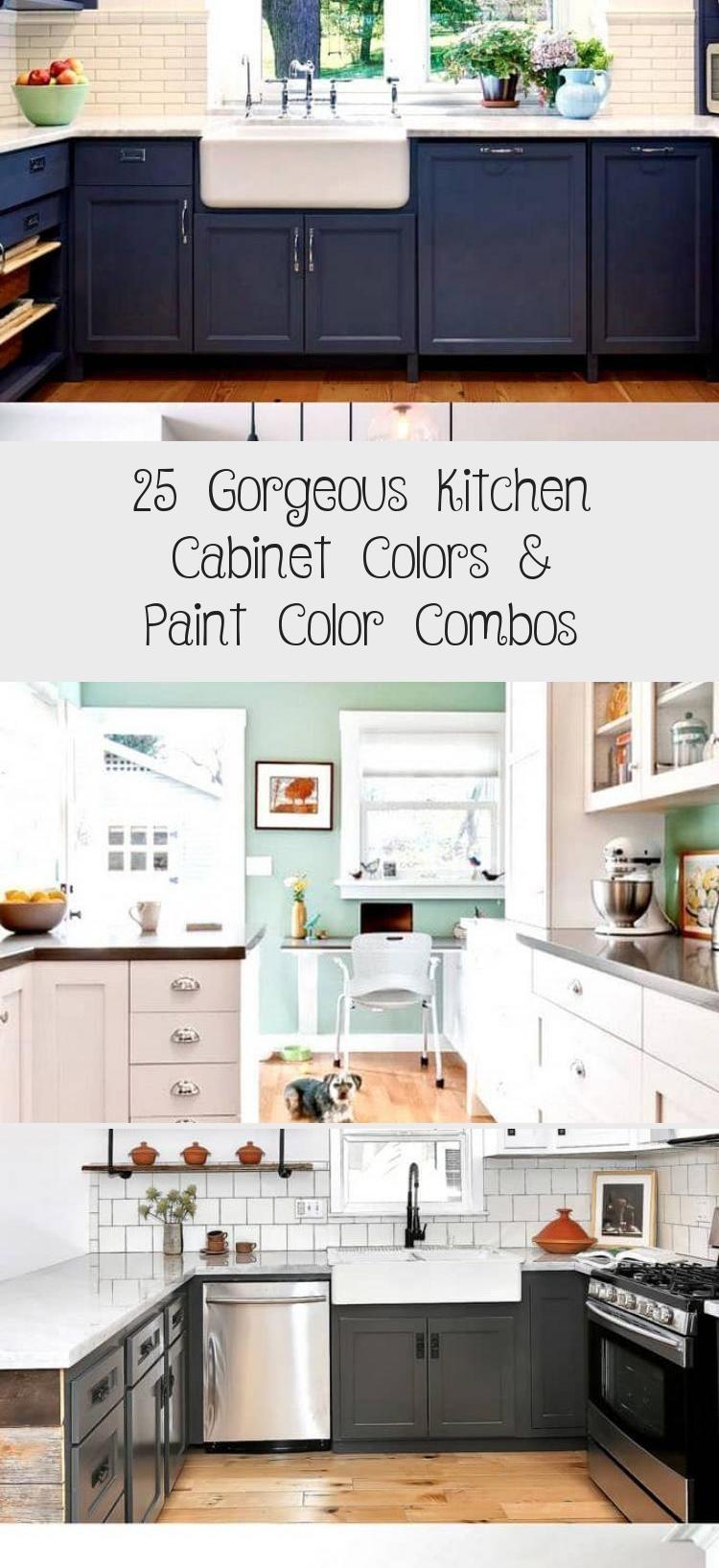 25 Gorgeous Kitchen Cabinet Colors Amp Paint Color Combos
