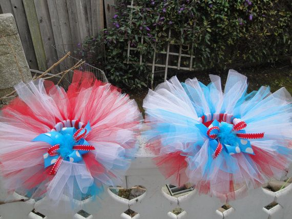 Dr Suess Birthday  TuTu  Sale  Red and Teal by TwoByTuTuCreations, $21.99