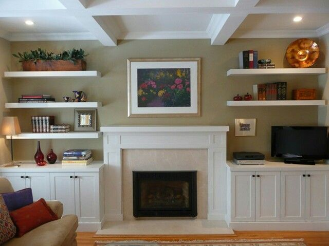 Lower Cabinets On Either Side Of Fireplace Home