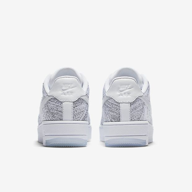 detailed look 9997f 5613b Chaussure Nike Air Force 1 Pas Cher Femme Flyknit Low Blanc Noir Blanc