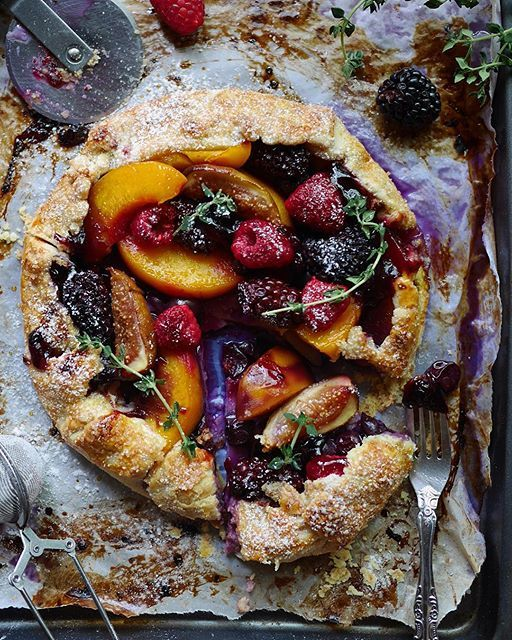 Summer Berry And Peach Galette by heartybakes | Qu