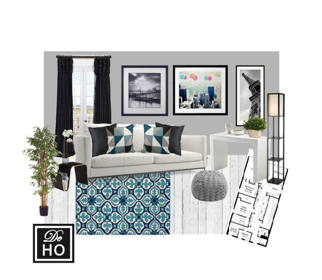 Interior Design Service Online, EDesign. Complete 1 Room Design With Scaled  Plan, Moodboard