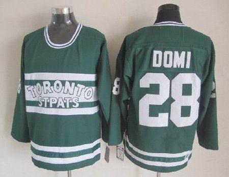 Toronto Maple Leafs #28 Tie Domi CCM Throwback Green NHL Jerseys
