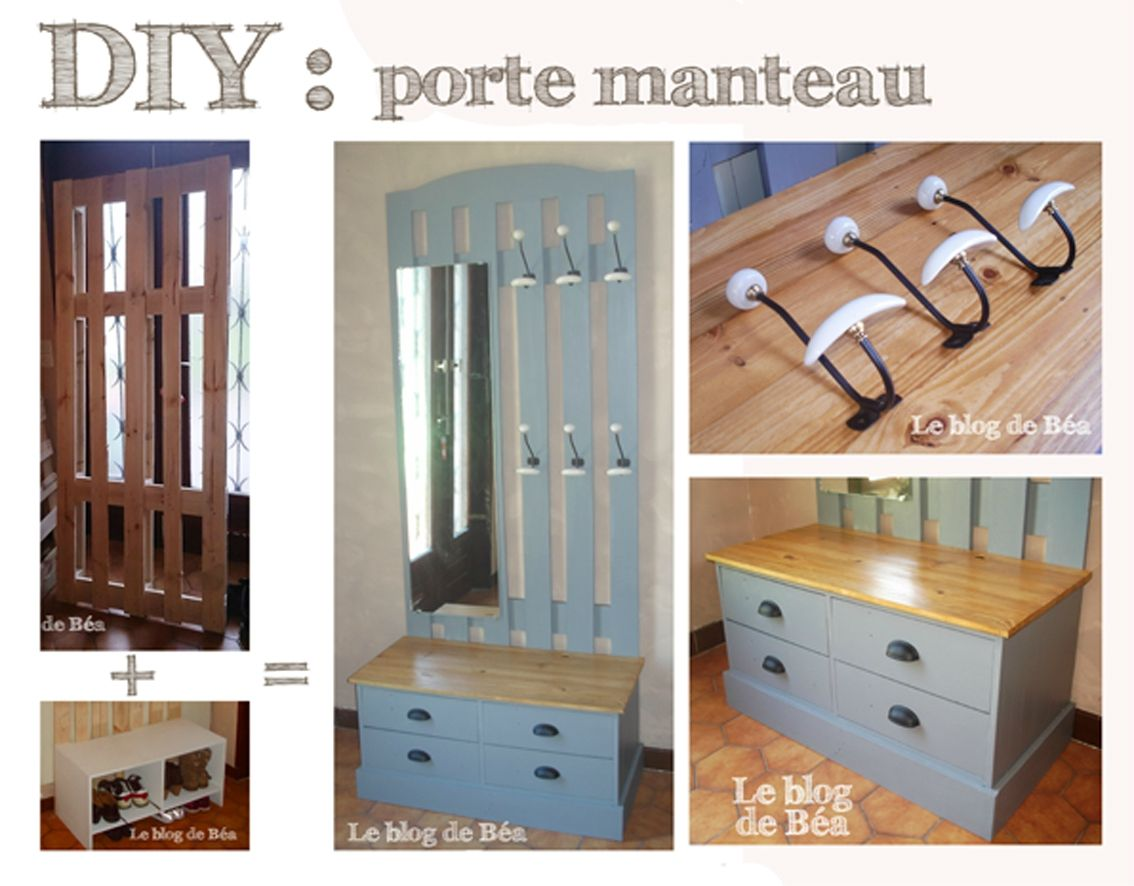 diy vestiaire d 39 entr e en bois de palettes et m dium le blog de b a dressings m diums et. Black Bedroom Furniture Sets. Home Design Ideas