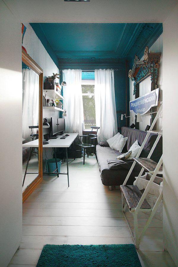 子供部屋にも応用可 6畳ワンルームの秀逸レイアウト Industrial Apartment Decor Small Room Design Apartment Decor