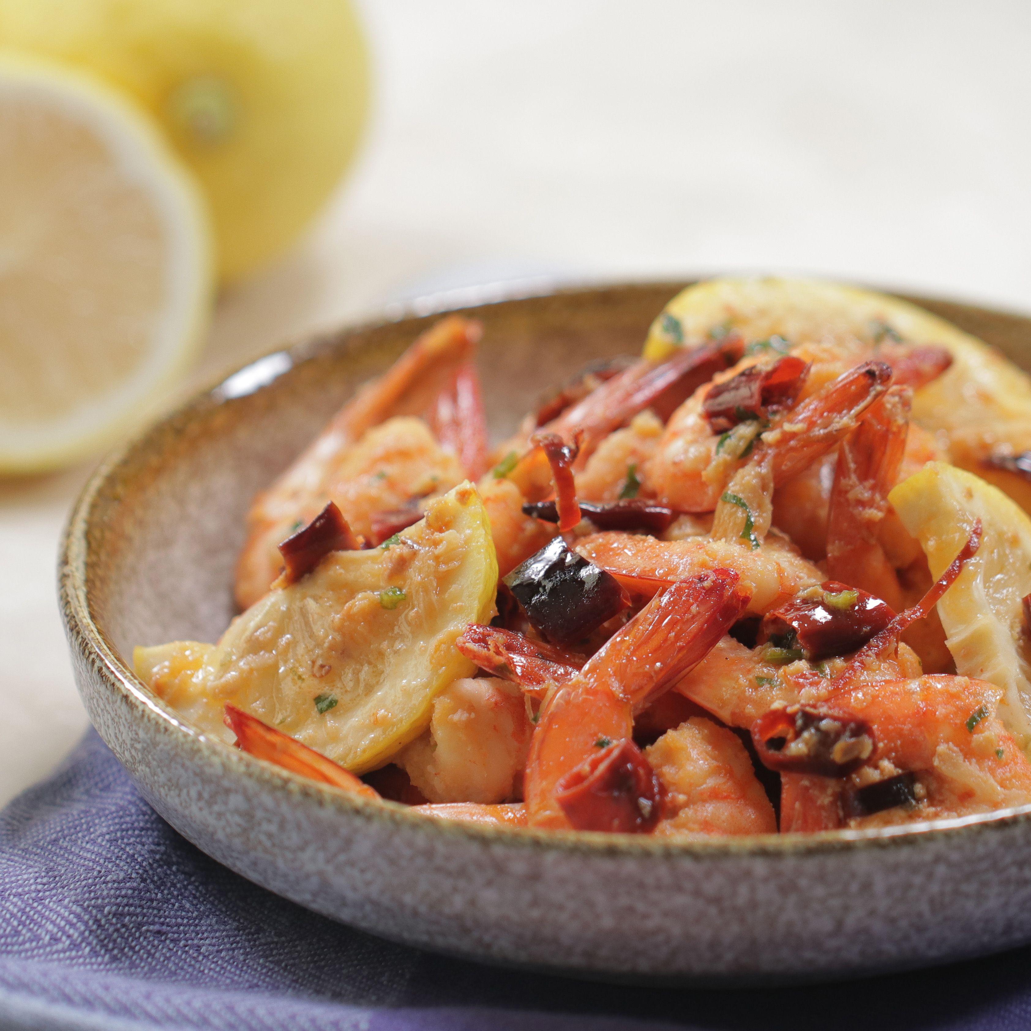 Resep Spicy Garlic Shrimp Makan Malam Resep Seafood Makanan
