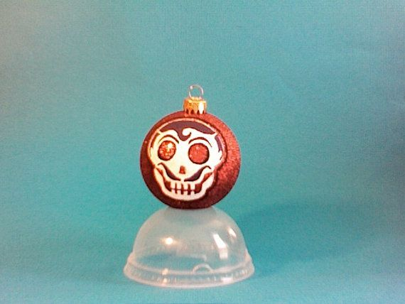 "a dapper latin skeleton man!!  we call him ""juan caballero""  skull // christmas // hand painted ornament by DiLLiDaLLiEr"