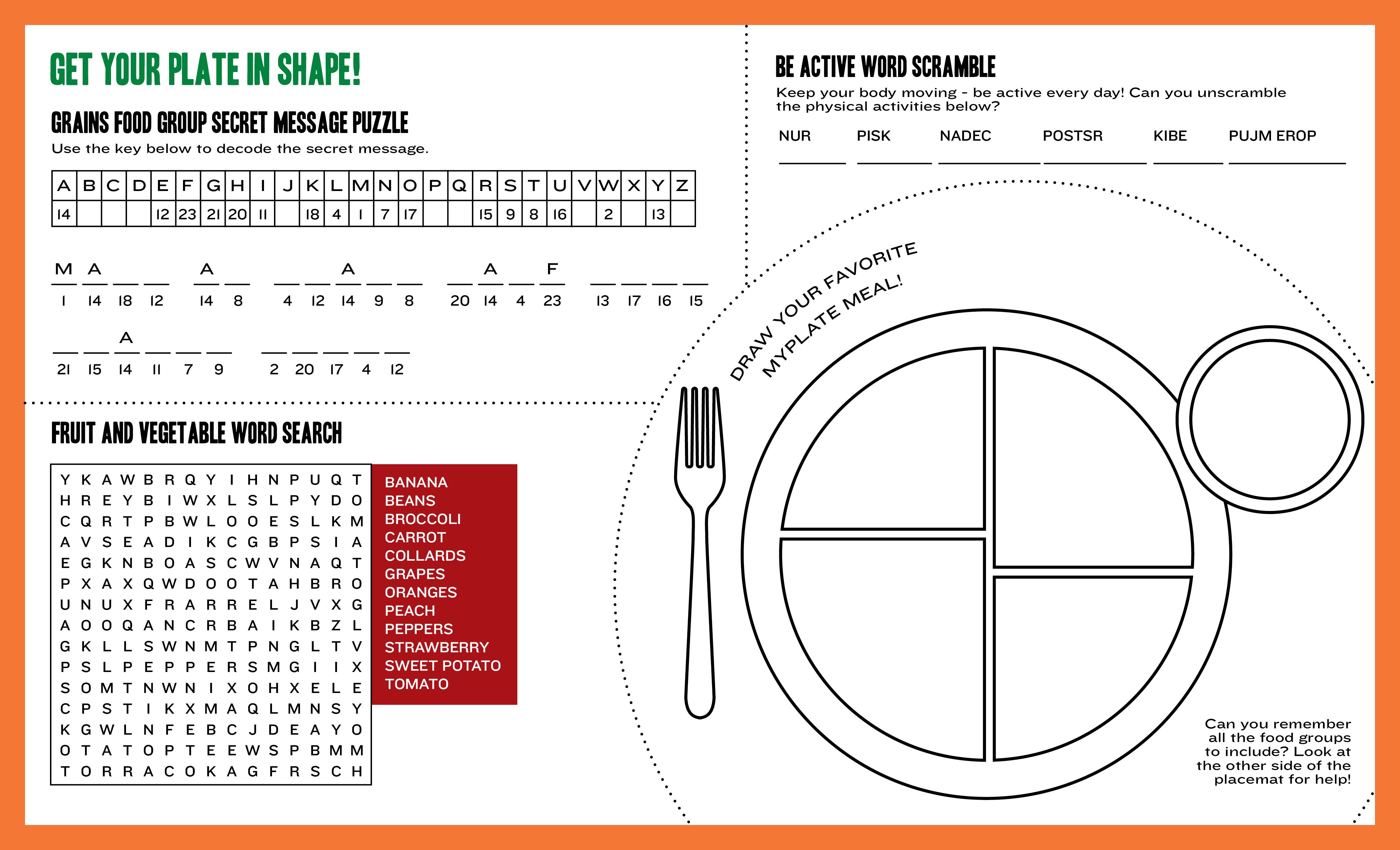 Blank Myplate Sheet | Mattawan Consolidated School | Dining Services ...