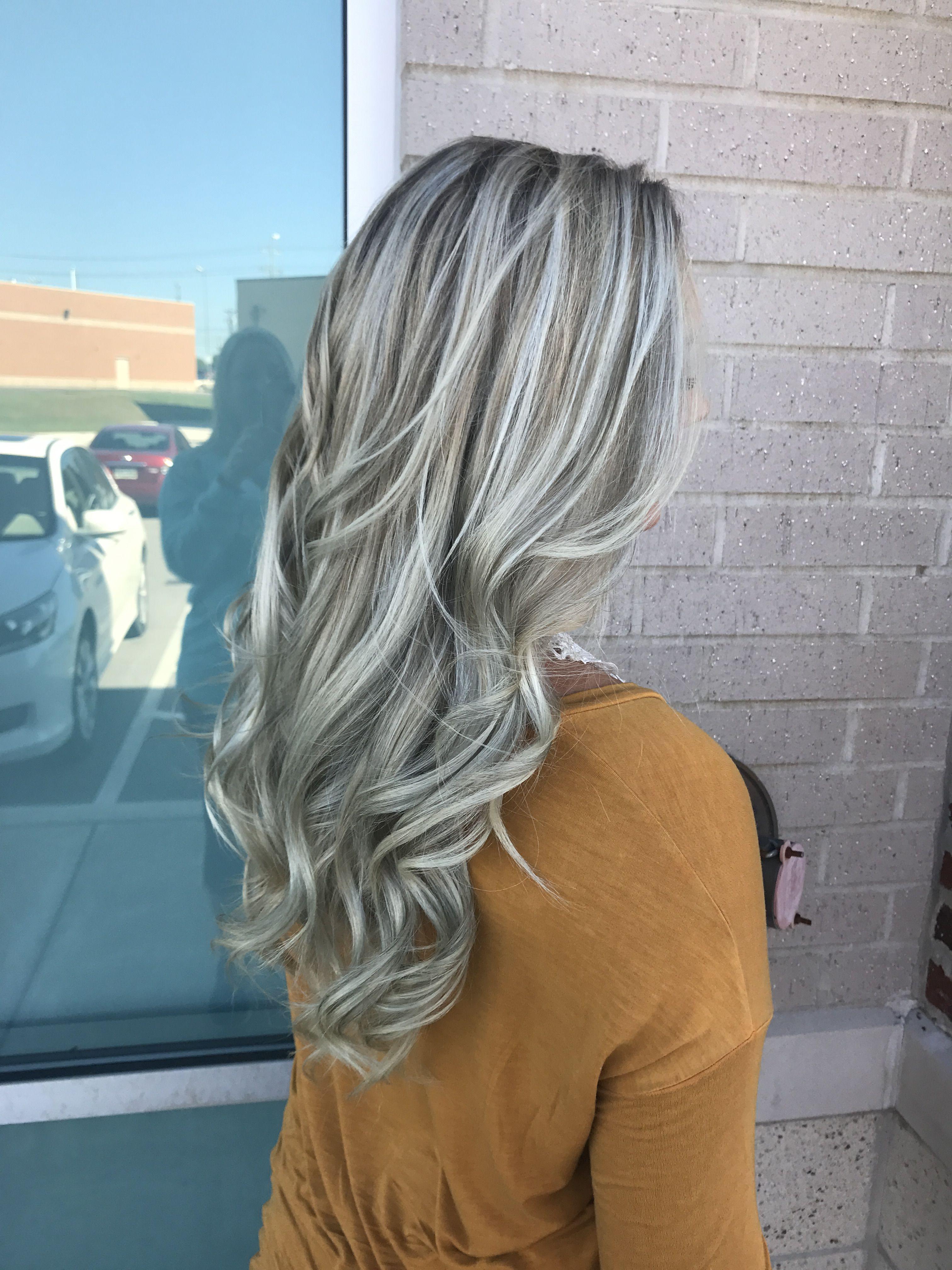 Ash Blonde Long Hair Lowlights Highlights Fallcolor Ashblonde