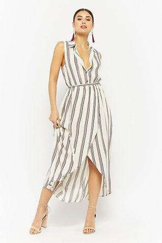 Striped Tulip-Hem Shirt Dress  7355262c331
