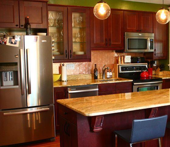 Heavy Copper Backsplash Sheets | Copper backsplash, Copper kitchen