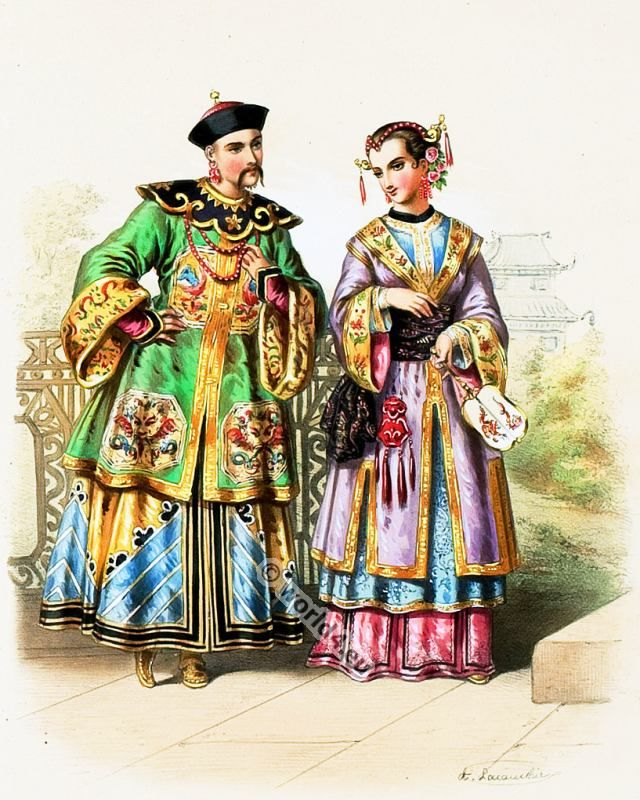 Traditional nobility costumes from China 1850s  sc 1 st  Pinterest : costumes from china  - Germanpascual.Com