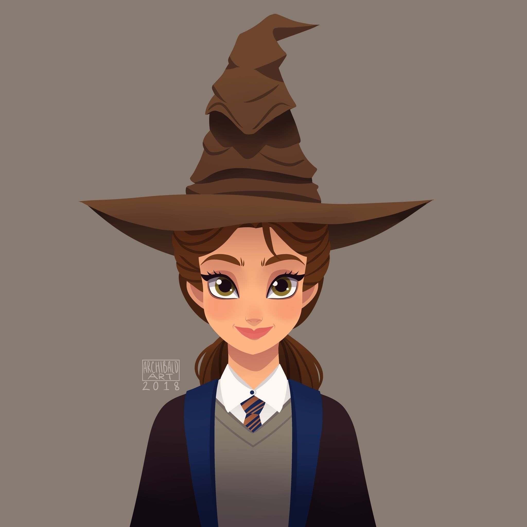 Belle As A Harry Potter Character Harry Potter Disney Disney Hogwarts Disney Princess Fan Art