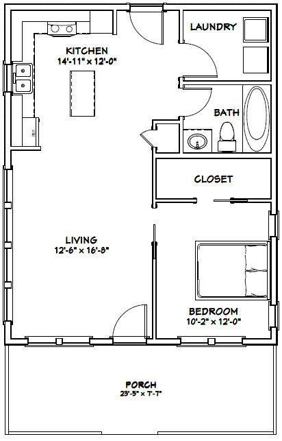Pin By Olga Terehina On Home Decor 1 Bedroom House Plans Tiny House Plans Tiny House Floor Plans