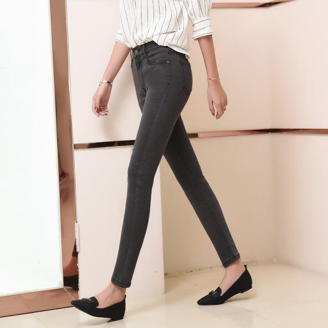 6fb3fb7de8 ... skinny high waist plus size pencil denim Ankle-Length trousers for women  100kg. Item Type  Jeans Gender  Women Model Number  AC-Nzc026 Material   Acrylic