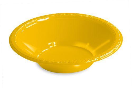 School Bus Yellow 12 Oz. Plastic Bowl - 240 Bowls