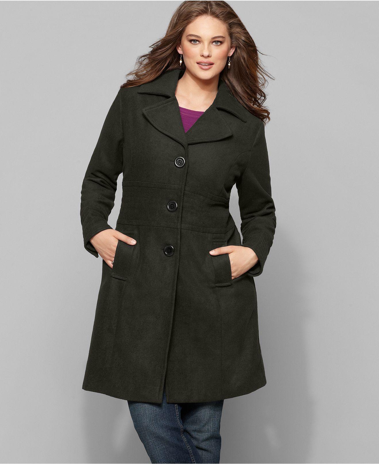 Dollhouse Single Breasted Pea Coat Plus Size Coats Winter Coats Women Plus Size Winter [ 1616 x 1320 Pixel ]