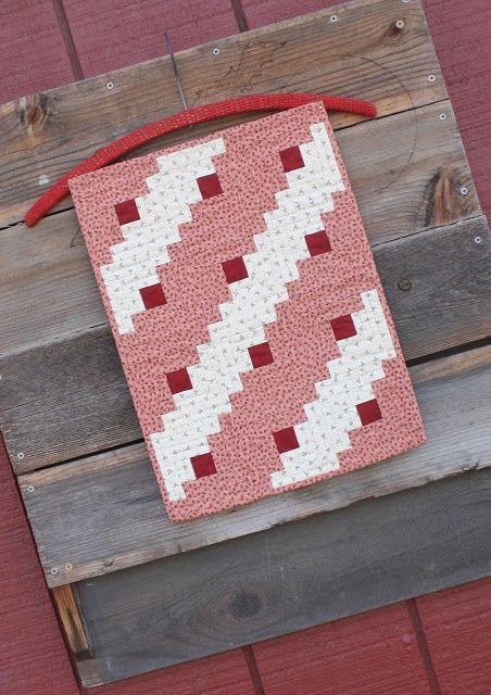 Red + White Quilted Wall Hanging √