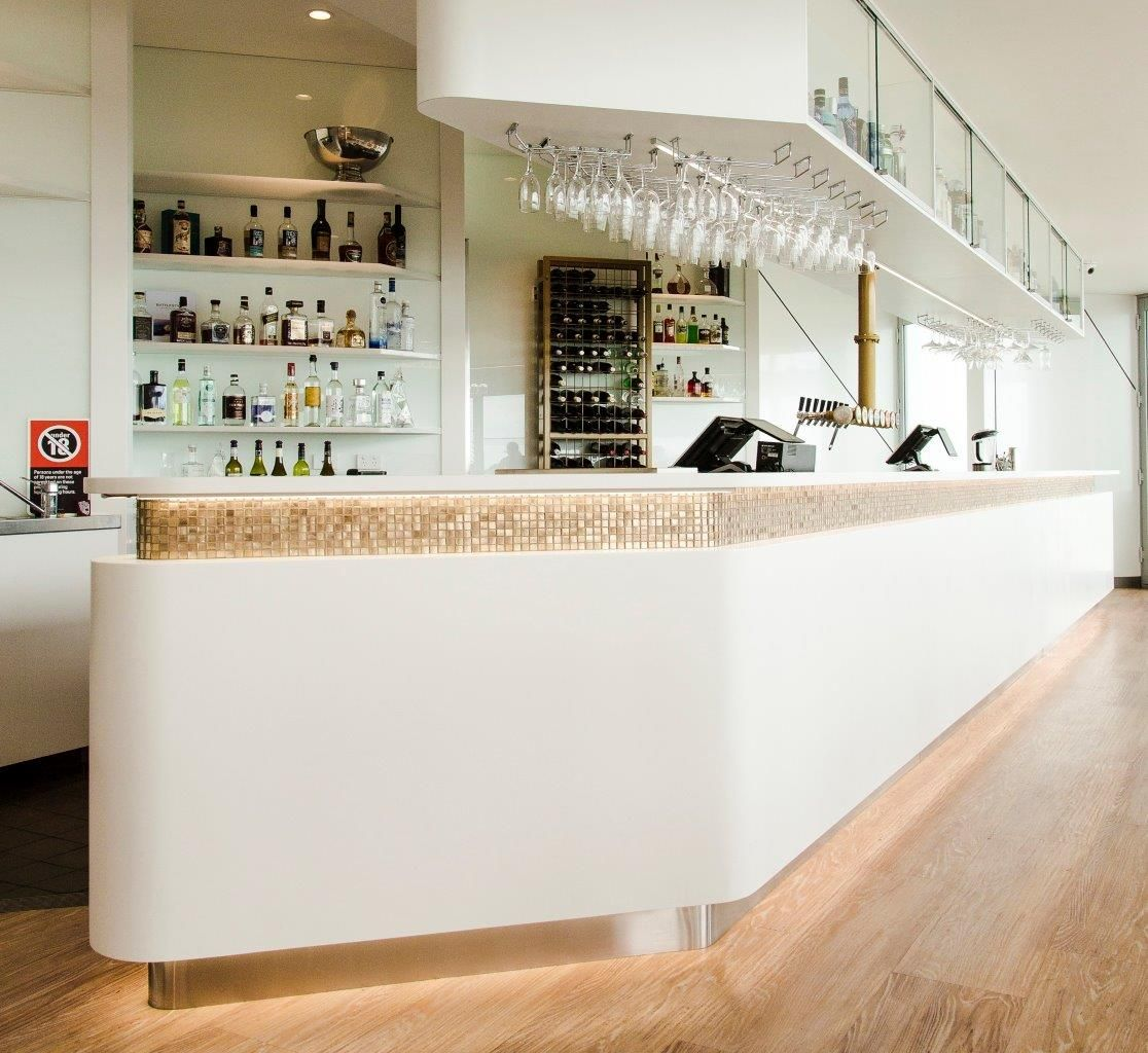 Battlesticks | Corian Corian was used as the counter top and ...