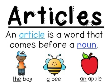 Anchor charts to help teach students about articles  use the explain and then brainstorm using them in sentences with my also chart  an grammer rh pinterest