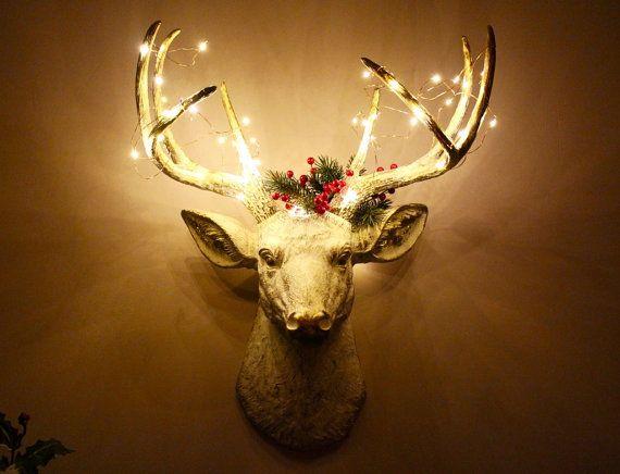 Faux Taxidermy Deer Head Stag Buck Head Wall by mysecretlite ...