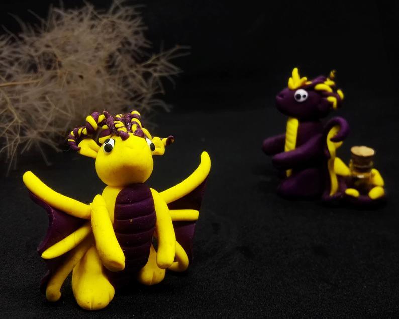 Polymer Clay Dragon Miniature Custom Design Pet In A Jar Etsy In 2020 Dragon Miniatures Polymer Clay Dragon Pet Dragon