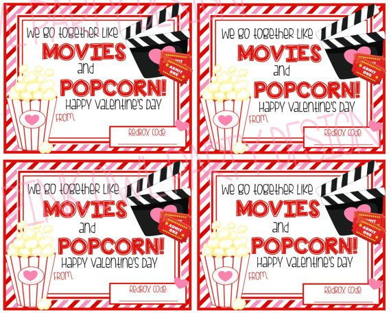 Super Fun And Easy ValentineS Day Gift Add To A Bag Of Popcorn