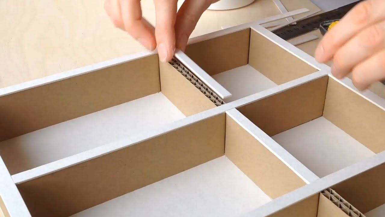 Diy How To Make A Cardboard Drawer Organizer Hd Corrugated