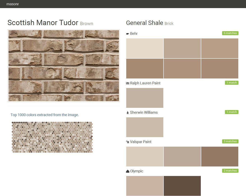 Brick General Shale Brick Scottish Manor Tud Behr Exterior Paint Colors Behr Exterior Paint Brick