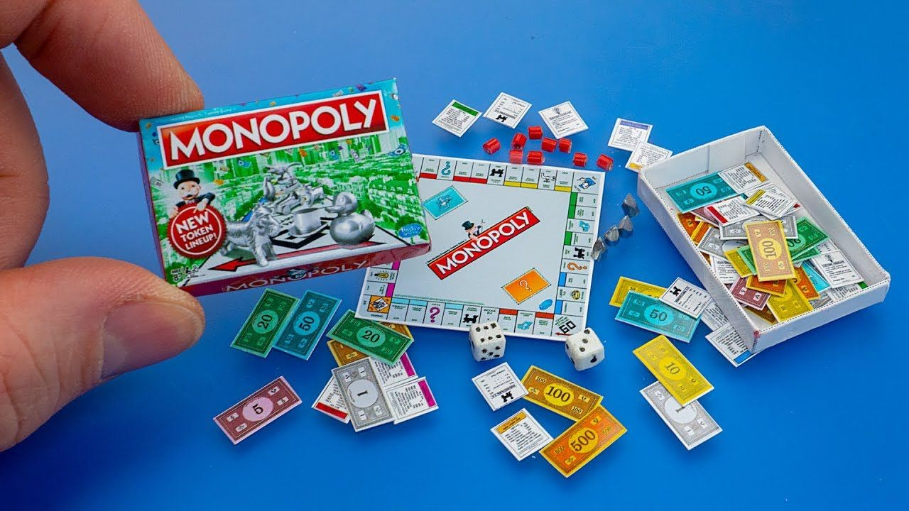 How to make a mini Monopoly Game with box diy dollhouse