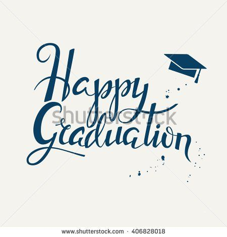 Hand Drawn Lettering Poster Happy Graduation Graduation Background Vector Happy Graduation Lettering Framed Letters