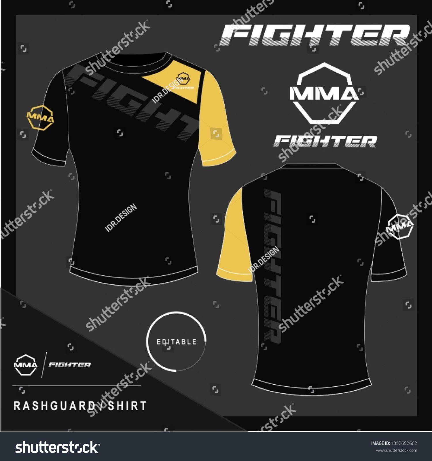 Rash Guard MMA Shirt Design Template