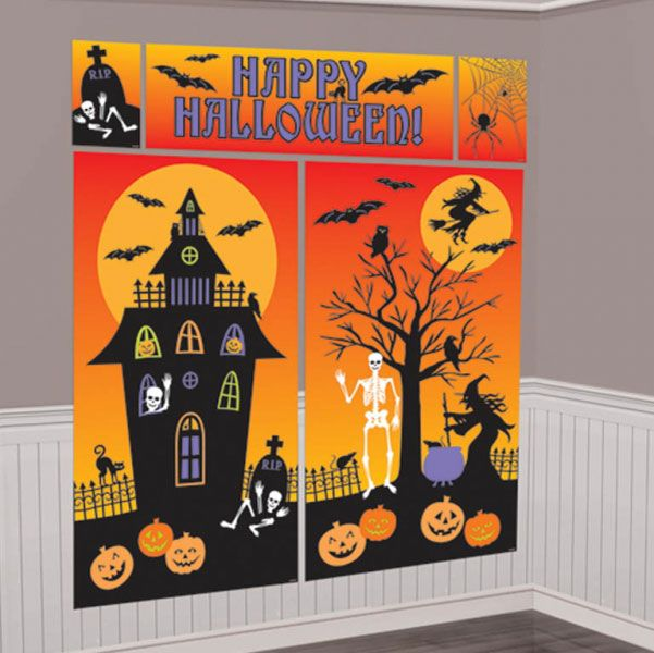 halloween scene setters room decorating kit £499 each Halloween
