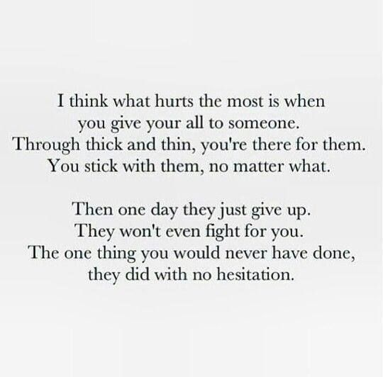 Hurtful Love Quotes Alluring One Of The Most Hurtful Things In The World  Life Quotes