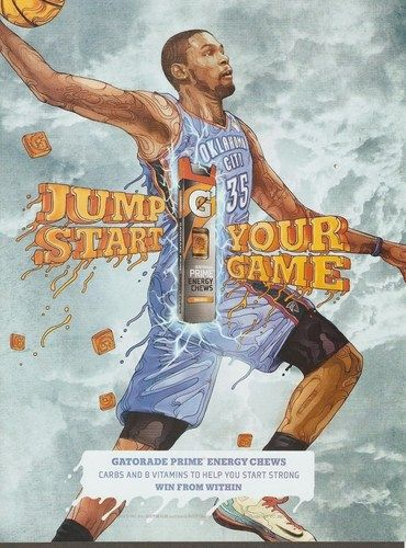 Kevin Durant Gatorade Energy Chews Advertisement | Kevin ...