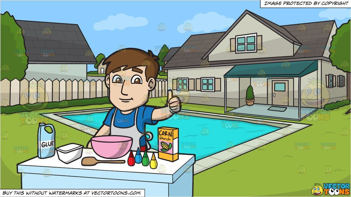 A Man Preparing To Make Slime and A Suburban House With